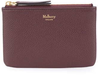 Mulberry Zipped Coin Pouch