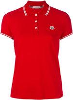 Moncler contrast trim polo shirt - women - Cotton - XS