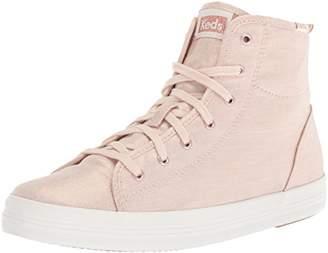 Keds Women's Kickstart HI Metallic Linen Sneaker