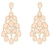 Charlotte Russe Faceted Stone Chandelier Earrings