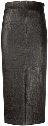 Brunello Cucinelli Crocodile Effect Pencil Skirt