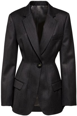 ATTICO Fitted Wool Gabardine Jacket