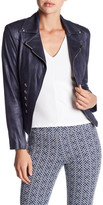 Insight Cracked Faux Leather Military Jacket