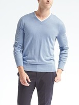 Banana Republic Silk Cotton Cashmere Vee