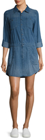 Blank NYC Flared Denim Shirtdress
