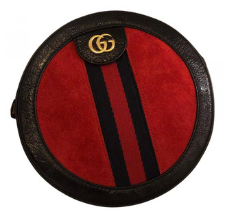 Gucci Ophidia Red Suede Handbags