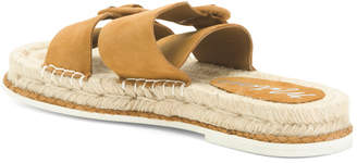 Suede Double Strap Espadrille Sandals