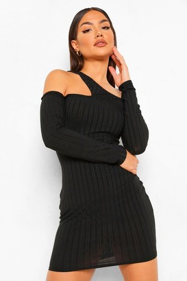 boohoo Interest Neckline Mini Dress