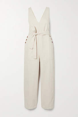 Alex Mill Ollie Belted Denim Jumpsuit - Cream