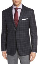 JB Britches Men's Classic Fit Plaid Wool Sport Coat