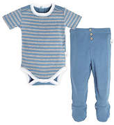 Baby Stripe Organic Cotton Bodysuit and Footed Pant Set
