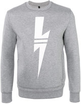 Neil Barrett lightning bolt sweatshirt - men - Polyurethane/Viscose - S