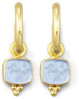 Elizabeth Locke Cerulean Pegasus, Goddess & Moon Intaglio Earring Pendants