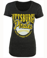 5th & Ocean Women's Pittsburgh Pirates Fast Pitch Scoop T-Shirt