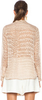 Stella McCartney Estelle Crocodile Print Viscose-Blend Blouse in Nude