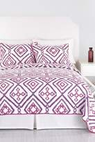 Trina Turk Ventura Ikat King Quilt - Purple/White
