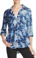 Bella Dahl Two Pocket Plaid Button-Down Shirt