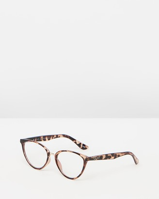 Quay Rumours Tort Cat Eye Blue Light Glasses-DISCONTINUED