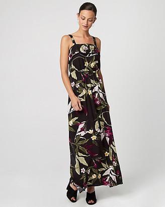 Le Château Tropical Print Challis Maxi Dress