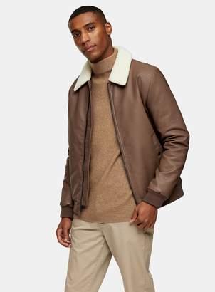 TopmanTopman Brown Flight Jacket