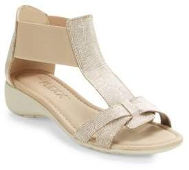 The Flexx Band Together Saffiano Leather T-Strap Sandals