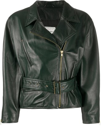 A.N.G.E.L.O. Vintage Cult 1980s Belted Leather Biker Jacket