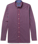 Hackett Slim-Fit Button-Down Collar Checked Cotton Shirt