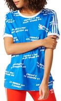 adidas Striped and Printed Cotton Tee