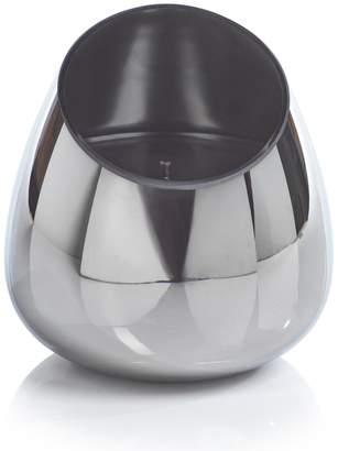 Zodax Geometric Platinum/Black Candle Jar