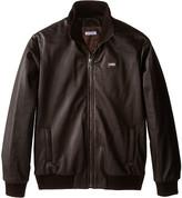 Dolce & Gabbana Leather Bomber Jacket (Big Kids)