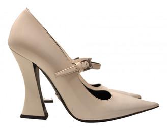 Prada Mary Jane White Patent leather Heels