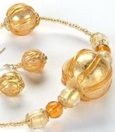 UG Gold Amber Globes Necklace Adornment Pendant Jewel Jewelry Accessory
