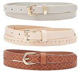 Charlotte Russe Plus Size Studded & Stamped Belts - 3 Pack