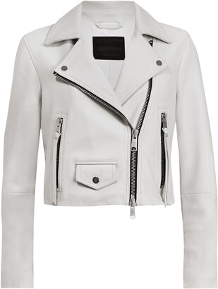 AllSaints Elora Shrunken Leather Biker Jacket