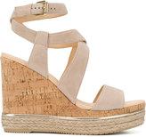 Hogan wedged sandals - women - Cork/Leather/Suede/rubber - 35