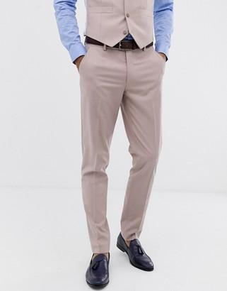 ASOS DESIGN wedding skinny suit pants in mink