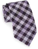 Saks Fifth Avenue Tri Color Grid Silk Tie