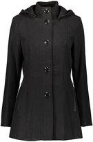 Kensie Black Button-Up Coat