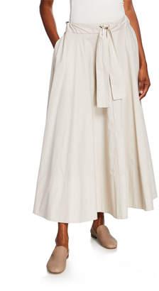 Co Cinched-Waist Circle Skirt