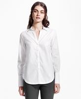 Brooks Brothers Petite Non-Iron Cotton Dobby Tunic Shirt