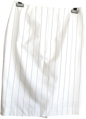 Saint Laurent White Cotton Skirt for Women Vintage