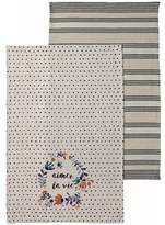 Ladelle Aimer La Vie 2 Pack Kitchen Towel