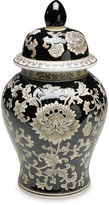 AA Importing 18 Florent Ginger Jar, Black/Cream