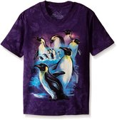 The Mountain Emperor Penguins on Ice Kids T-Shirt - Kids Small