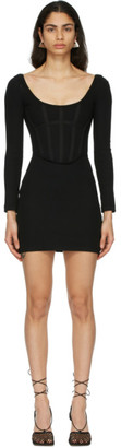 Dion Lee Black Rib Corset Mini Dress