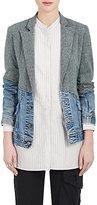 Greg Lauren Women's Wool Tweed & Vintage-Denim Blazer