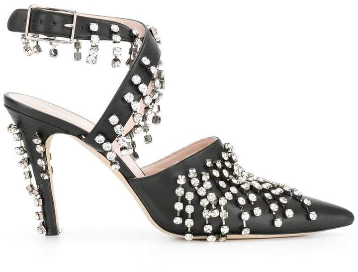 Christopher Kane crystal drip high heel