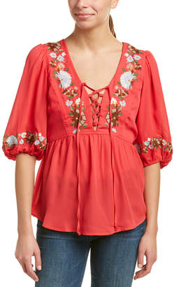 VOOM by Joy Han Voom By Joyhan Embroidered Top
