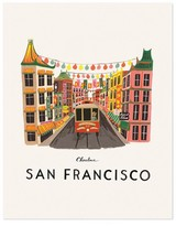Rifle Paper Co. Rifle Paper San Francisco Poster - 28x35 cm