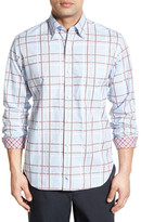 Tailorbyrd &Petunia& Regular Fit Plaid Sport Shirt (Big & Tall)